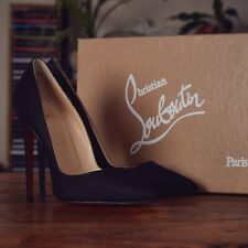 Christian Louboutin Black Suede So Kate 120 Pumps Size UK 6 EU 39