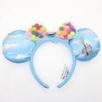 Disney Parks RARE Minnie oreilles nœud bleu Up Grape Soda Cap Ballons Bandeau