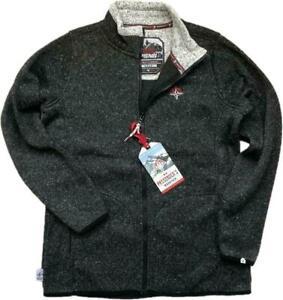 WOMENS BLACK Fleece Hiking Warm Anti Pill Cardigan Full Zip JACKET Jumper 10-20