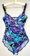 Croft barrow Size 16 One piece Multicolored Animal  Print design Women Swimwear