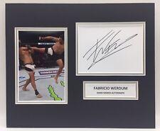 More details for rare fabricio werdum ufc signed photo display + coa autograph mma boxing