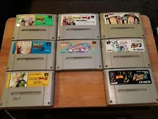 Lot of 8 Nintendo Super Famicom Games *USED* *Carts only*