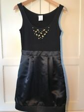 New Black MAX AND CLEO Bubble Rhinestones Cocktail Dress Size 4 NWT