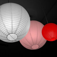 3er Pack Lampion Laterne Lampe Lampenschirm Reispapier Deko Party 10-40 cm