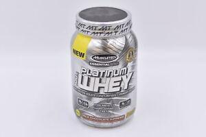 MuscleTech Platinum 100% Whey Protein Powder, Milk Chocolate, 2lb, EXP:10/2021