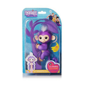 NEW Fingerlings - Interactive Monkey w Exclusive Stand - Mia Purple by WowWee