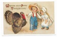 Vintage Greetings Postcard Wishing You Happy Thanksgiving Lillian Vernon 1992