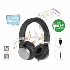 Stereo Headset Kopfhörer Hörer Eara One Ohrhörer mit USB Typ C & 3,5 mm Schwarz
