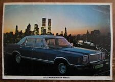 MERCURY MONARCH GHIA orig 1977 UK Mkt Right Hand Drive Sales Leaflet Brochure