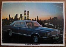 MERCURY MONARCH GHIA orig 1977 UK Mkt Right Hand Drive Sales Leaflet Brochure