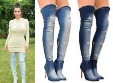 100% Leather Casual Over Knee Boots for Women
