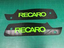 Genuine in fibra di carbonio FOCUS mk2 RS Recaro Sedile Piastre Verde