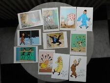 Herge Tintin (Tim) Set 18 Karten Postkarten Zustand Neu