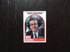1989 1990 NBA Hoops Announcer Card Steve Holman Hawks Promo Basketball Card