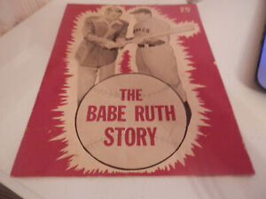 """Vintage """"The Babe Ruth Story"""" Movie Photograph Booklet 1948 - VG Condition"""
