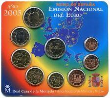 ENVIO GRATUITO  ► ESPAÑA - BLISTER EUROSET BU 2005 - carterita 9 MONEDAS ☆ SPAIN
