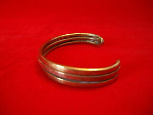 "BRACELET-Handmade Solid Brass & Copper Cuff Style Bracelet, 7 to 8"" Adjustable"