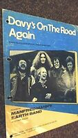 MANFRED MANN'S EARTH BAND: DAVY'S ON THE ROAD AGAIN (SHEET MUSIC)