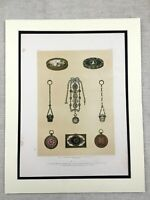 1862 Print Breguet Watch Enamel Snuff Box Chatelaine Antique Chromolithograph