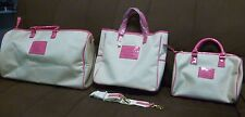 Victoria Secrets Duffle Tote Beach Bag Cosmetic Bag Limited Edition Pink Canvas