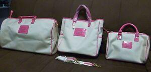 Victoria Secrets Limited Edition Pink Canvas Hand Bag Set