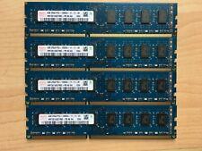 16 GB 4 X 4 GB 2RX8 PC3-12800U-11-11-B1 HYNIX RAM MEMORY