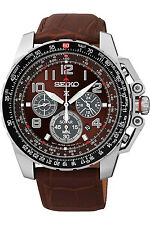 SEIKO SSC279P1,Mens Prospex Solar,Sport Chronograph,Leather Strap,100m WR,SSC279