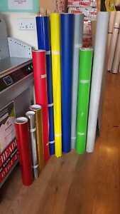 ASLAN VINYL 75 meter assorted colours, worth £500, 1260mm 625mm 1020mm 1250mm