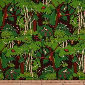 Windham Fabrics Heather Ross 20th Anniversary Green Climbing Trees Cotton Fabric