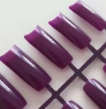 20 French Nail Tips Lila