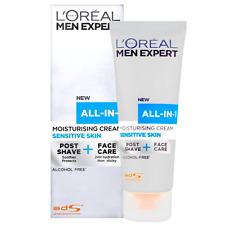 2 X Loreal Men Expert All in 1 Moisturising Cream Sensitive Skin 75ml Each