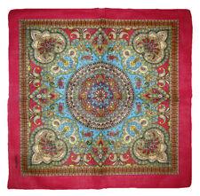 "Wholesale Lot 12 (1 Dozen) 22""x22"" Ornate Paisley Mosaic Pink Border Bandana"