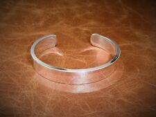 Herren Gents Solid 925 Sterling Silber x Heavy Open Drehmoment Armreif Armband
