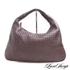 $2750 Bottega Veneta Made in Italy 115654V00132040 Brown Intreccio Leather Bag
