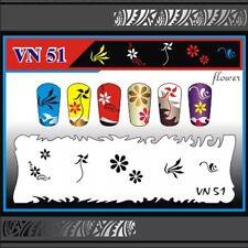 Nail Art Airbrush Stencils (VN 51-60)
