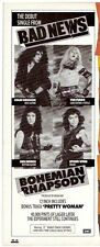 BAD NEWS Bohemian Rhapsody UK magazine ADVERT/Poster/clipping 11x4 inches