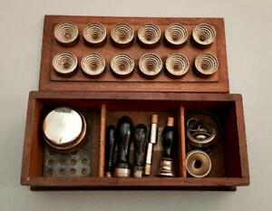 RARE ANTIQUE DR'S APOTHECARY WARRICK BROTHERS CACHETS PRESS & SMELLING SALTS