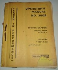 Galion A400 Series E Road Motor Grader Operators Maintenance Manual Original!