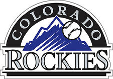 "Colorado Rockies MLB Baseball Bumper sticker, wall decor vinyl decal, 5""x 3.5"""