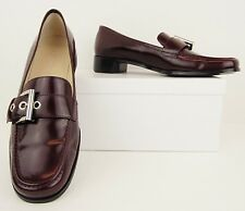 Anne Klein Burgundy Wine Leather Low Heel Loafers Flats Dress Shoes 6.5 M (S362)