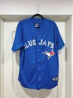 Majestic Toronto Blue Jays alternate blue jersey (adult size L)
