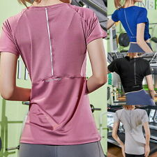 Quick Dry Fitness T-Shirt Sport Gym Clothes Yoga Workout Tops for Women Fitness