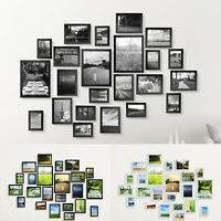 23PCS Multi-Picture Family Collage Photo Frame Frames Aperture Art Deco Wall Set