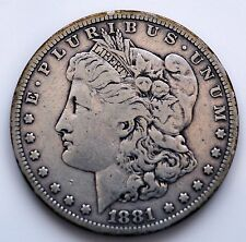Dólar Morgan De Plata 1881s (SN) de 1 (a)