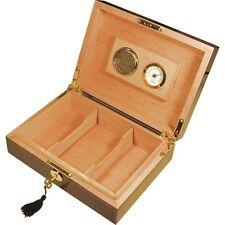 Laminated Mahogany 20 Cigar Humidor with Lock