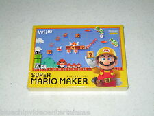 Super Mario Maker Nintendo Wii U Japan Import Sealed
