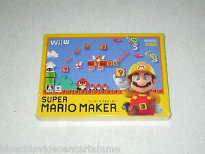 Super Mario Maker Nintendo Wii U Japan Import Sealed