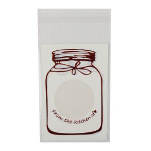 100Pcs Halloween Cookie Candy Bread Self Adhesive Plastic Bag Packaging Bags