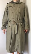 POLO Ralph Lauren Mens L Olive Green Trench Coat Cotton Button Belt Steampunk
