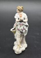 "Volkstedt Dresden German Classical Woman Greek Comedy Mask 4 3/4"" Figurine"